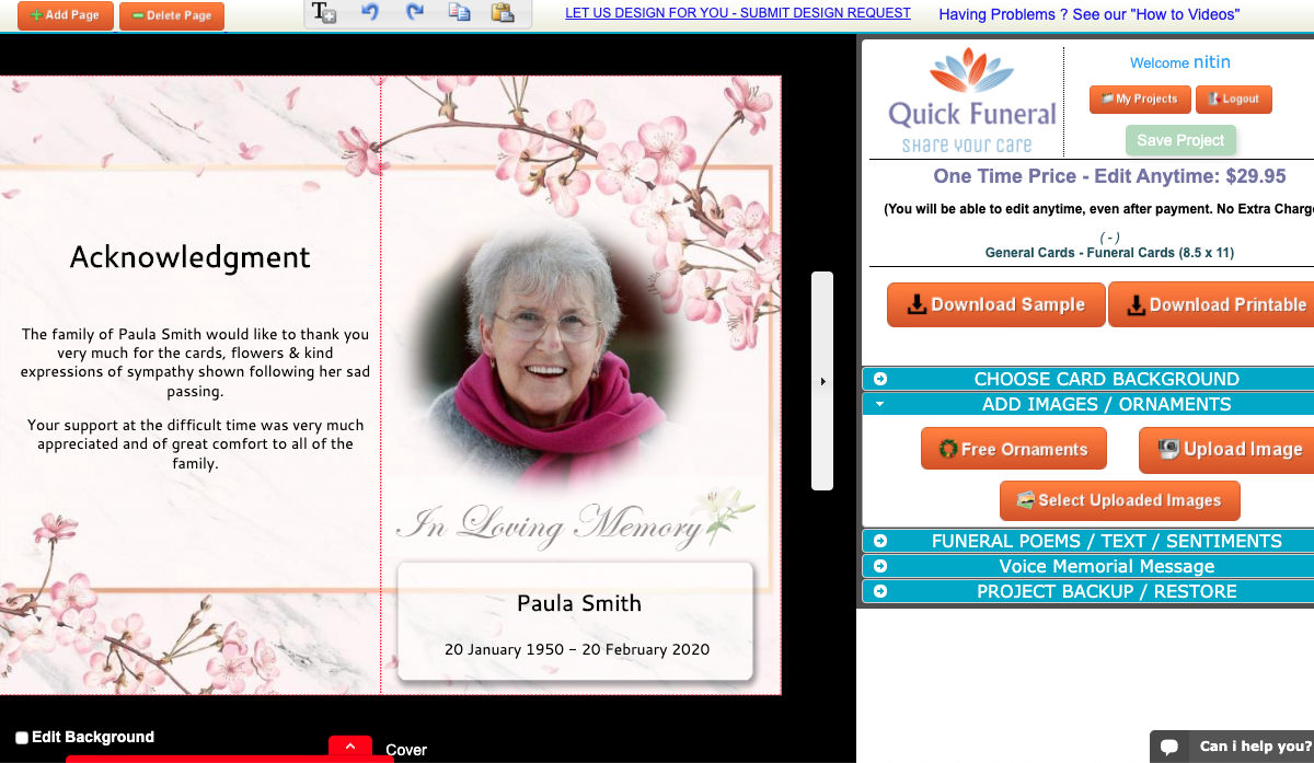 How to Create a Funeral Program Online